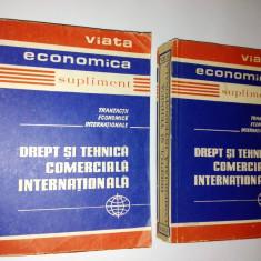 Viata Economica ( supliment) - Drept si tehnica comerciala internationala / 1973 (2 volume) - Carte afaceri