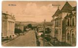 327 - Rm. VALCEA, Judecatoria si Tribunalul - old postcard - used - 1923