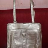 Geanta dama LIZ CLAIBORNE, argintie - OKAZIE, Geanta de umar, Argintiu, Mare