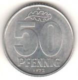SV * DDR  /  Germania Democrata   LOT   50 PFENNIG  +  5 MARK 1972     +/- XF, Europa, Cupru-Nichel