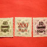 3 Valori : 10M, 40M, 200M, supratipar Wurtemberg, sarniera