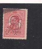 No(08)timbre-Romania 1908-L.P.66-  Carol I gravate -PERFIN  B.C.R.-10 bani, Stampilat