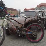 Vand bicicleta de downhill NukeProof Scalp - Mountain Bike, 16 inch, 26 inch, Numar viteze: 9, Aluminiu, Gri metalizat