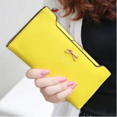 Portofel Fashion 2014 Dama Plic Piele - CALITATE FOARTE BUNA ! GALBEN - Portofel Dama, Culoare: Din imagine