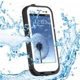 Cumpara ieftin Toc subacvatic alb impermeabil waterproof cu prelungitor casti audio Samsung Galaxy S3 i9300 + folie protectie + expediere gratuita