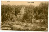 460 - Arges, PITESTI, park TRIVALE - old postcard - used - 1918, Circulata, Printata