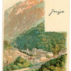722 - L i t h o, Baile HERCULANE - old postcard - used - 1902 - Carte Postala Banat pana la 1904, Circulata, Printata