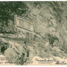 490 - LITHO, Banat, Baile HERCULANE, Jubilee Plate - old postcard - used - 1905 - Carte Postala Banat 1904-1918, Circulata, Printata