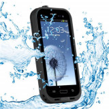 Cumpara ieftin Toc subacvatic negru impermeabil waterproof cu prelungitor casti audio Samsung Galaxy S3 i9300 + folie protectie + expediere gratuita