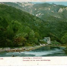 601 - L i t h o, Banat, Baile HERCULANE, Muntii Cernei - old postcard - unused - Carte Postala Banat 1904-1918, Necirculata, Printata