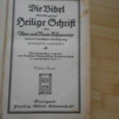 D. MARTIN LUTHER'S--DIE BIBEL (BIBLIE) - 1923, Alta editura