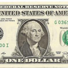 Statele Unite (SUA) 1 Dolar 2009 (G - Chicago IL, Signatures: Gumataotao Rios & Geithner ) P-530 UNC !!!