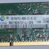 Memorie laptop Samsung 1GB PC3-8500 DDR3-1066MHz, 1 GB, 1066 mhz
