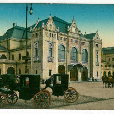614 - Banat, ARAD, Railway Station, carriages - old postcard - used - 1913 - Carte Postala Banat 1904-1918, Circulata, Printata