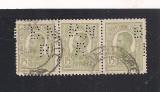 No(08)timbre-Romania 1908-L.P.66-  Carol I gravate -PERFIN  B.N.R.-10 bani