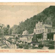599 - Litho, Banat, Baile HERCULANE - old postcard - used - 1903 - Carte Postala Banat pana la 1904, Circulata, Printata