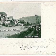 470 - Litho, Brasov, PREDEAL, border - old postcard - used - 1900 - Carte Postala Muntenia pana la 1904, Circulata, Printata