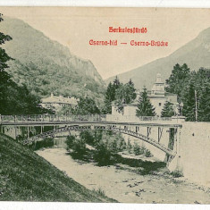 605 - Banat, Baile HERCULANE, bridge - old postcard - used - 1908 - Carte Postala Banat 1904-1918, Circulata, Printata