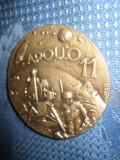 APOLLO 11- Medalie 1969- First men on the moon, alama argintata, semnata AFFER