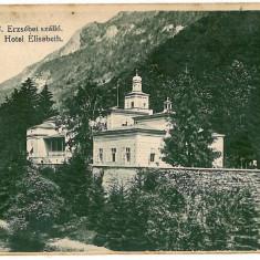 609 - Banat, Baile HERCULANE, Elisabeth hotel - old postcard - used - 1908 - Carte Postala Banat 1904-1918, Circulata, Printata