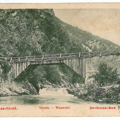 469 - Litho, Banat, HERCULANE, wooden bridge - old postcard - used - 1904 - Carte Postala Banat pana la 1904, Circulata, Printata