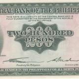 "Bancnota Filipine 200 Pesos (1949) - P140 UNC (seria ""englezeasca"") - bancnota asia"