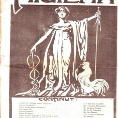 Revista Higiena anul 1913