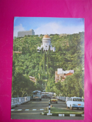 HOPCT 13025   ISRAEL  HAIFA -BULEVARDUL UNO ,SI HOTELUL DAN CARMEL      [ CIRCULATA foto