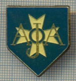 1713 INSIGNA SPORTIVA - FOTBAL - AJA (CLUBUL AJA AUXERRE, FRANTA?) (CRUCE DE MALTA) -starea care se vede