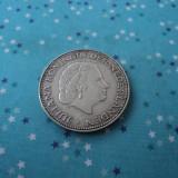 2 1/2 gulden 1961 Olanda, argint, Europa