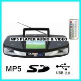 MP5 MEDIA PLAYER AUDIO SI VIDEO CU STICK USB,CARD,RADIO FM,MICROFON,KARAOKE,TELECOMANDA ,ACUMULATOR,NOU 2014.SUNET HI FI.