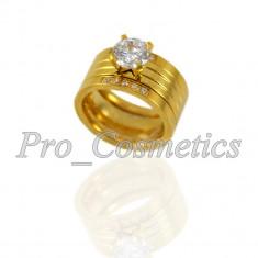 Inel Inox de dama Reina - Inel Otel Inoxidabil inel logodna format din 3 inele separate