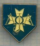 1715 INSIGNA SPORTIVA - FOTBAL  - AJA (CLUBUL AJA AUXERRE, FRANTA?) (CRUCE DE MALTA) -starea care se vede