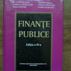 FINANTE PUBLICE, editia a 4-a, 2004 - IULIAN VACAREL