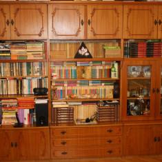 Biblioteca cu 3 corpuri si dulap cu doua usi