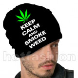 Caciula/Fes HOT FASHION,  KEEP CALM AND SMOKE WEED, UNISEX, 100% EXCLUSIV !