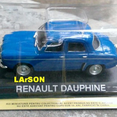 Macheta Renault Dauphine 1956 + revista DeAgostini Masini de Legenda 70, 1:43