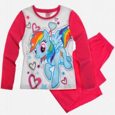 Pijama lunga 2-8 ani WS96957 alb-fucsia - My Little Pony, Marime: Alta, Culoare: Roz