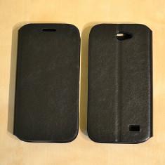 Husa ALLVIEW A5 DUO Flip Case Slim Black - Husa Telefon Allview, Negru, Piele Ecologica, Cu clapeta, Toc