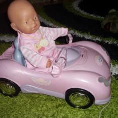 PAPUSA SI MASINUTA CU SUNETE LUMINI MUZICA BABY BORN 150 RON