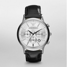 Ceas Emporio Armani AR2432 Chronograph Stainless Steel and Black - Ceas barbatesc Armani, Fashion, Quartz, Otel