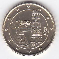 Moneda Austria 10 Euro Centi 2002 - KM#3085 UNC, Europa