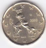 Moneda Italia 20 Euro Centi 2002 - KM#214 UNC, Europa