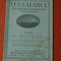 Revista Luceafarul anul XIII / nr 10 Sibiiu 16 maiu 1914 !!! - Revista culturale