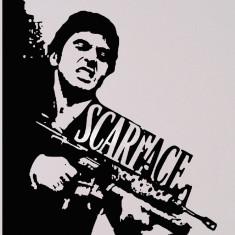 Scarface_Tatuaj De Perete_Sticker Decorativ_WALL-015-Dimensiune: 32 cm. X 28 cm. - Orice culoare, Orice dimensiune