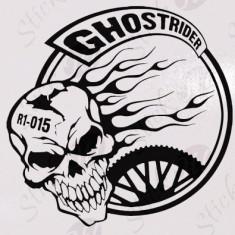 Ghost Rider_Stickere Diverse_Perete_Auto_DIV-013-Dimensiune: 15 cm. X 15 cm. - Orice culoare, Orice dimensiune