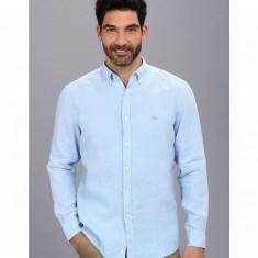 Barbati Lacoste Long Sleeve Button Down Linen Woven Shirt | 100% original | Livrare cca 10 zile lucratoare | Aducem pe comanda orice produs din SUA - Bluza barbati