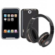 SUPER CASTI WIRELESS MONSTER POLO CU RADIO INCORPORAT,MP3 CITITOR CARD TF,ACUMULATOR CU INCARCARE USB,CABLU INCLUS., Casti On Ear, Bluetooth, Monster Beats by Dr. Dre