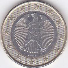 Moneda Germania 1 Euro 2002F - KM#213 XF, Europa