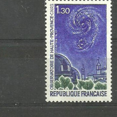 Franta 1970 - OBSERVATOR ASTRONOMIC, timbru nestampilat B252 - Timbre straine, Spatiu